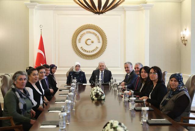 Başbakan Yıldırım, Boğatepe Çevre ve Yaşam Derneği heyetini kabul etti