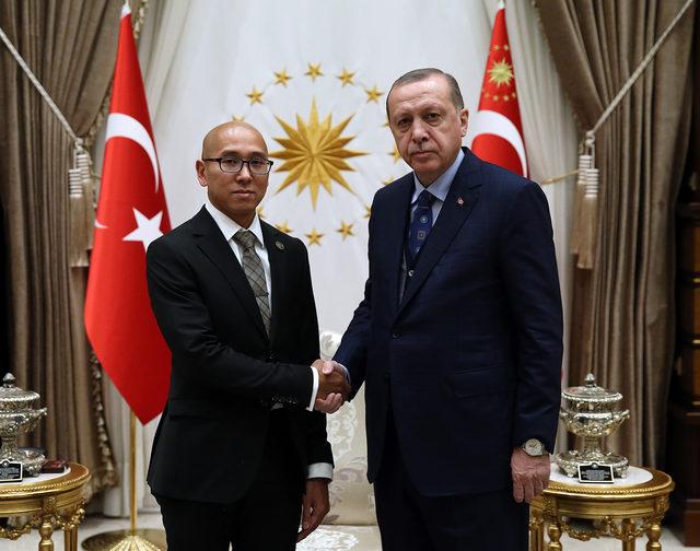 Erdoğan'a, Brunei Darüsselam Büyükelçisi güven mektubu takdim etti