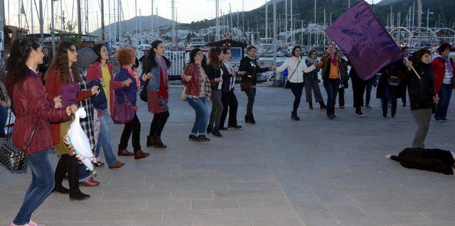 Bodrum'da kadınlar günü yürüyüşü düzenledi