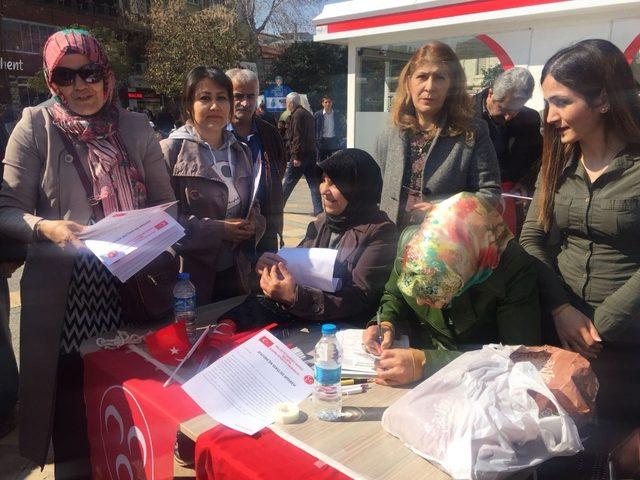 MHP kadın kollarından etkinlik