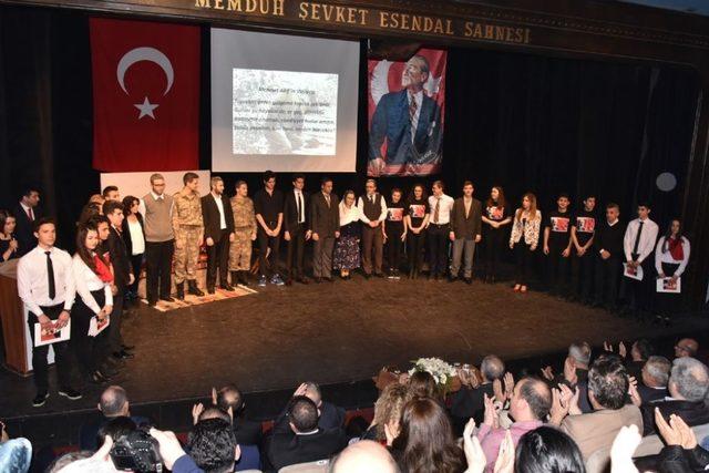 Çorlu 'da İstiklal Marşı 'nın kabulü ve Mehmet Akif Ersoy 'u anma etkinlikleri