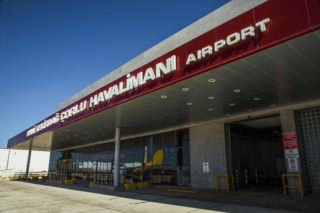 Tekirdağ Çorlu Havalimanının yolcu trafiği artıyor