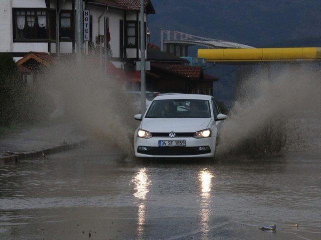 Bolu'da dolu etkili oldu