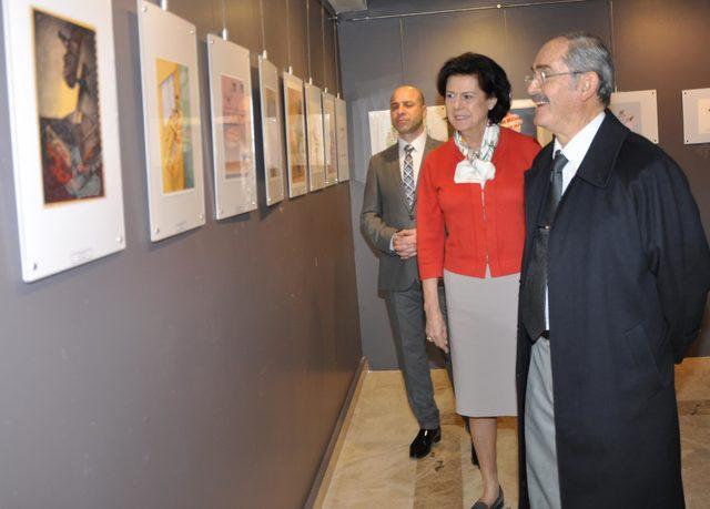 34'üncü Aydın Doğan Uluslararası Karikatür Yarışması Sergisi Eskişehir'de açıldı
