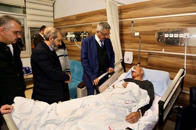 AK Partili Aslan 'dan geçmiş olsun ziyareti
