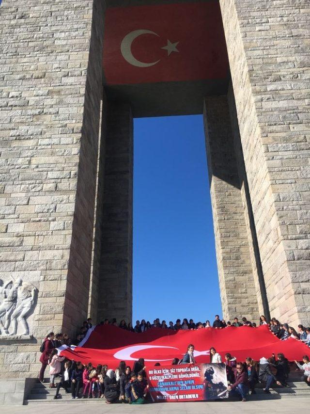 Çanakkale 'den Afrin 'e selam gönderdiler