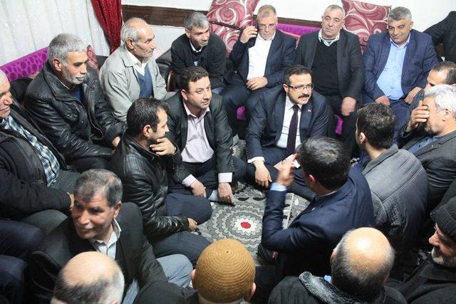 Ak Parti Şehitkamil İlçe Başkanı Yılmaz'dan Çat Kapı Ziyareti