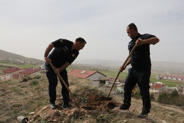 Afrin zaferi için 58 adet fidan diktiler