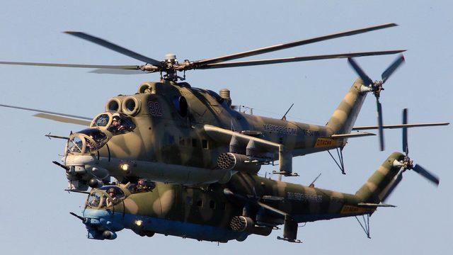Rusya'nın Şarayat Hava Üssünü Mil Mi-24 Hind taaruz helikopterleri için kullandığı belirtiliyor.