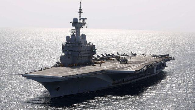 Fransa'nın Charles de Gaulle uçak gemisi daha önce Suriye'deki operasyonlar için kullanılmıştı.
