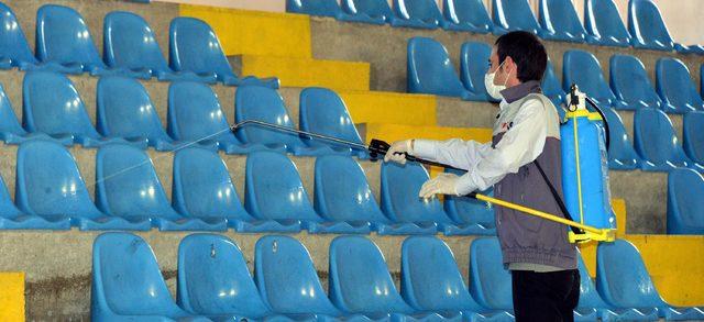 Kaçakların barındığı spor salonları dezenfekte edildi