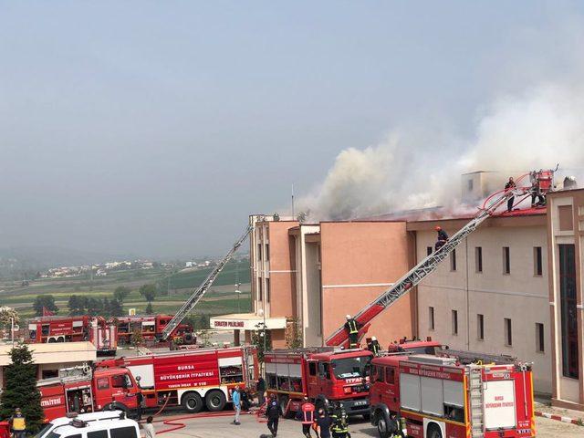 Bursa'da hastanede yangın (2)