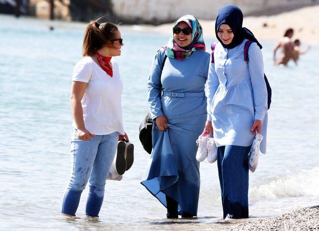 Bodrum'da plajlar doldu