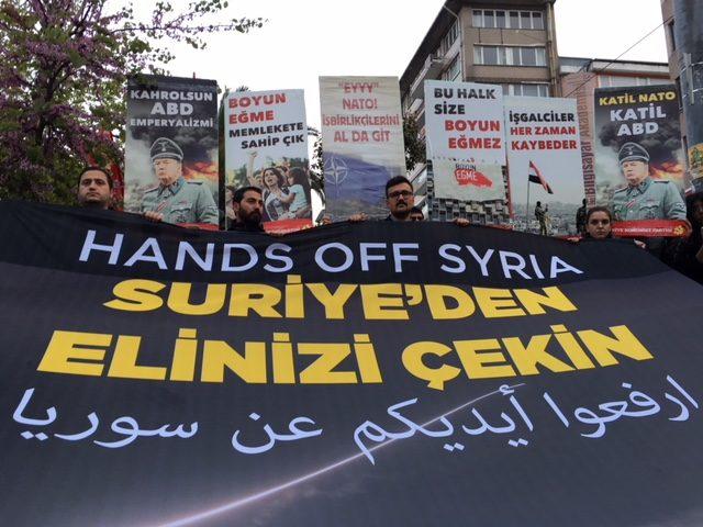 Suriye'ye yönelik operasyon protesto edildi