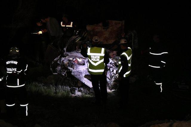 Nevşehir'de katliam gibi kaza, 5 ölü,  4 yaralı