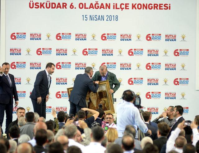 Erdoğan, Üsküdar İlçe Kongresinde konuştu