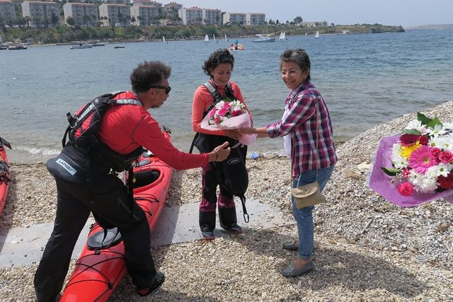 Çanakkale şehitleri anısına kano yolculuğu
