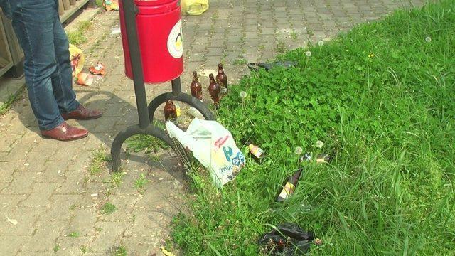 Mahalle halkı parkta geceleri alkol alanlara tepkili