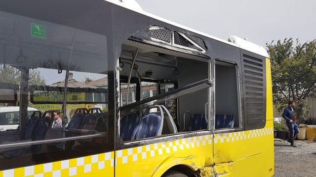Hafriyat kamyonu İETT otobüsüne çarptı: 6 yaralı