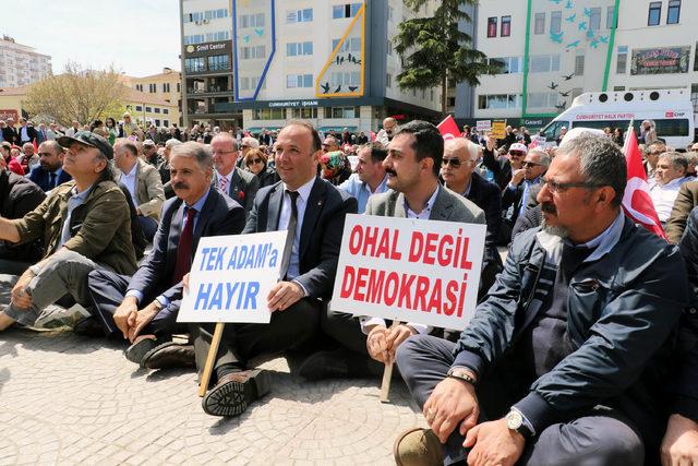 CHP'lilerden Samsun'da oturma eylemi