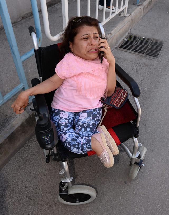 Cep telefonu çalınan engelli kadın, gözyaşlarına boğuldu