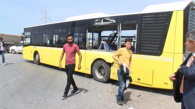 Hafriyat kamyonu İETT otobüsüne çarptı: 6 yaralı (2)