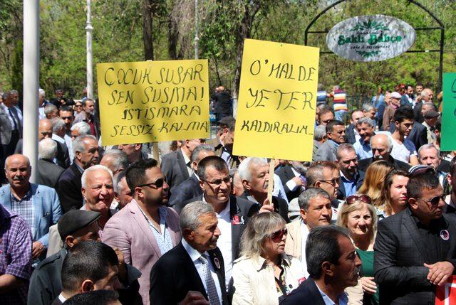 Gaziantep'te CHP'lilerden OHAL'e karşı oturma eylemi