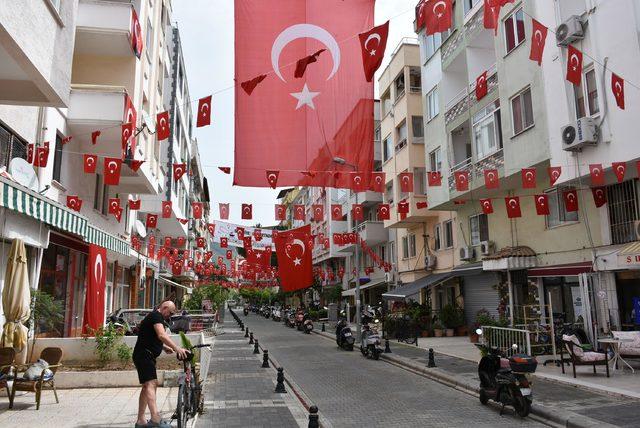 Marmaris'te o sokak 23 Nisan'a hazır