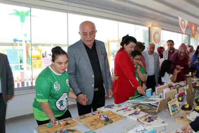 Down sendromlu çocuklar yararına resim sergisi ve kermes