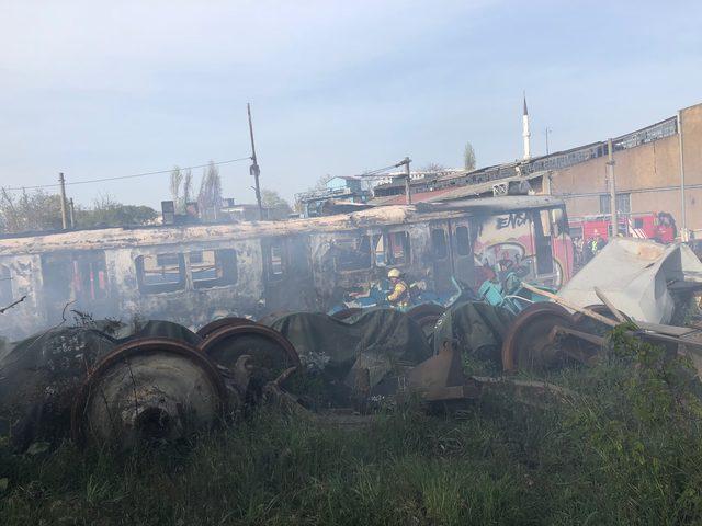 Haydarpaşa Garında vagonlarda yangın çıktı