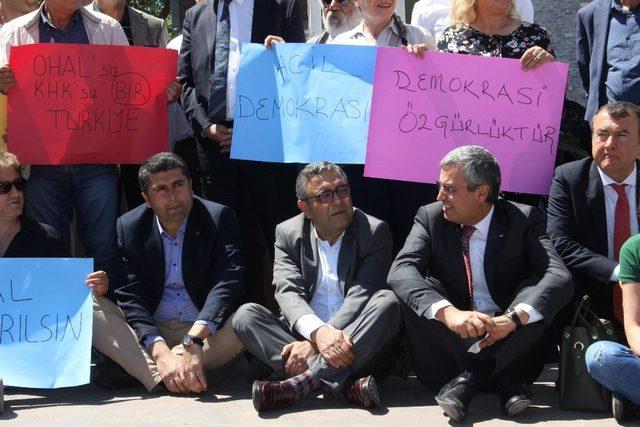 Diyarbakır'daki CHP eylemine HDP'liler de destek verdi