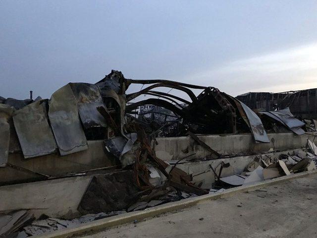 Mobilya fabrikasında çıkan yangın 24 saat sonra söndürüldü