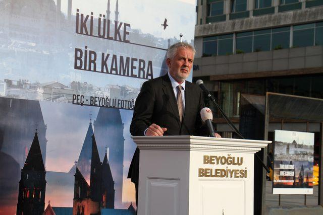 'İki Ülke Bir Kamera' Taksim Meydanı'nda sergilendi