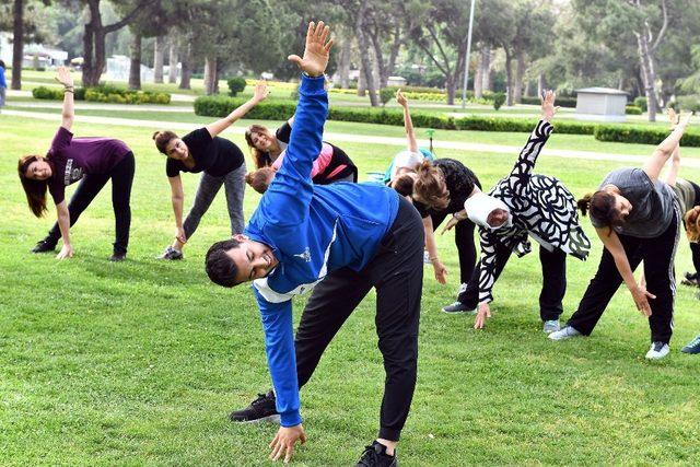 Kültürpark'ta sabah sporu keyfi