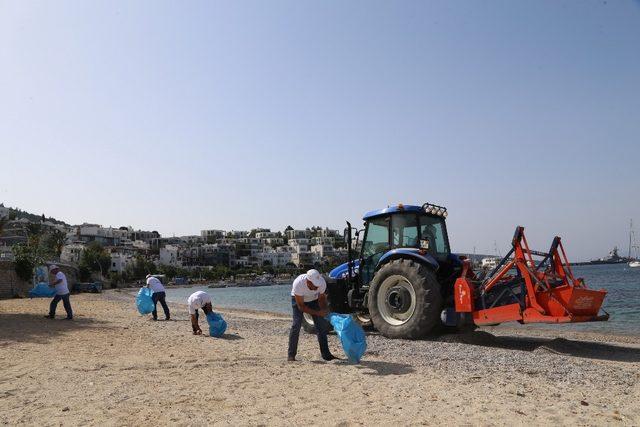 Bodrum sahilleri yaza hazırlanıyor