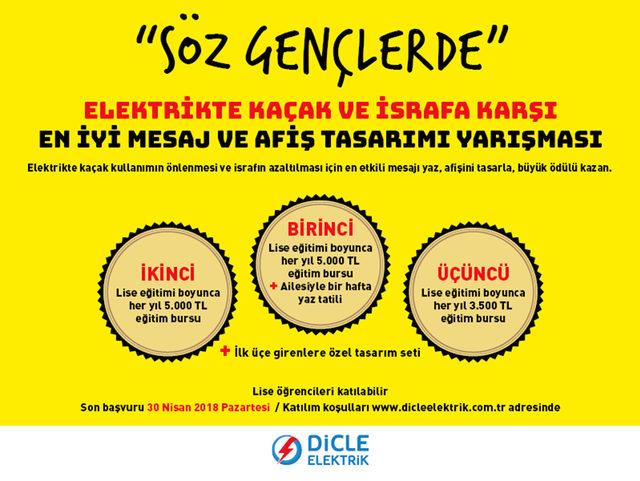 Dicle Elektrik'in 60 bin liralık ödüllerine son başvuru 30 Nisan