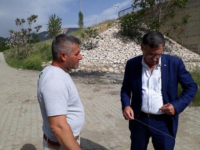 Vezirhan'da köprü çalışmaları