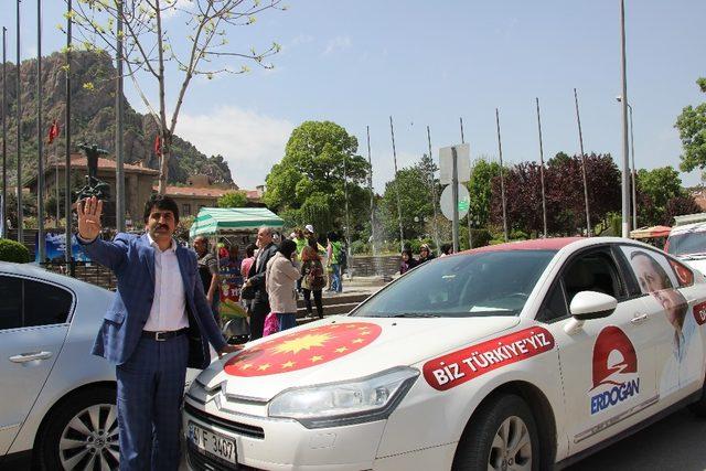 Cumhurbaşkanı Erdoğan için 5. kez Türkiye'yi turluyor