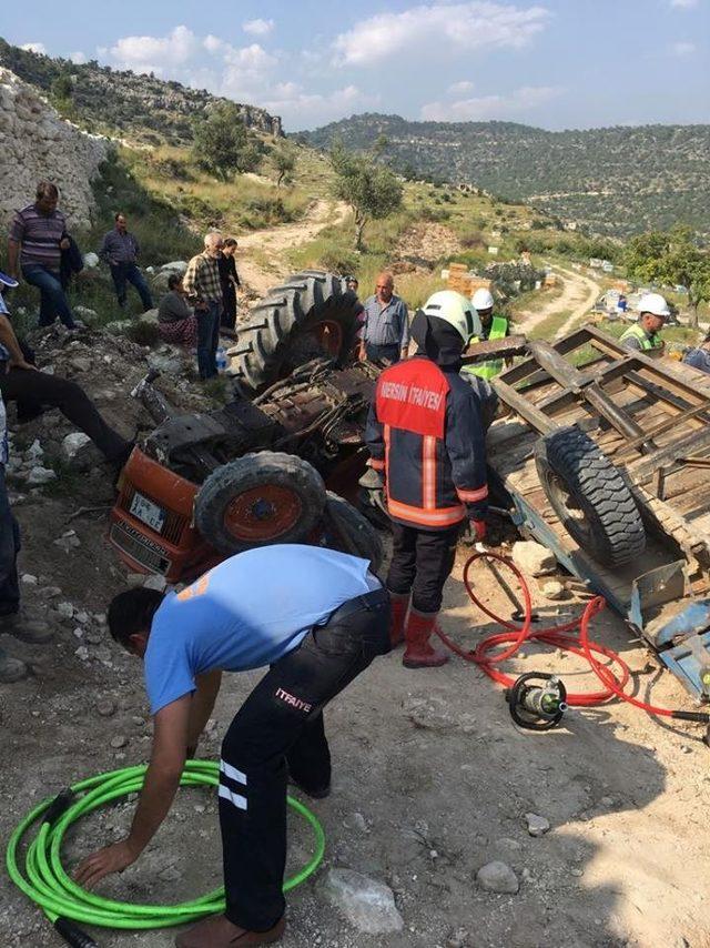 Mersin'de traktör kazası: 3 yaralı