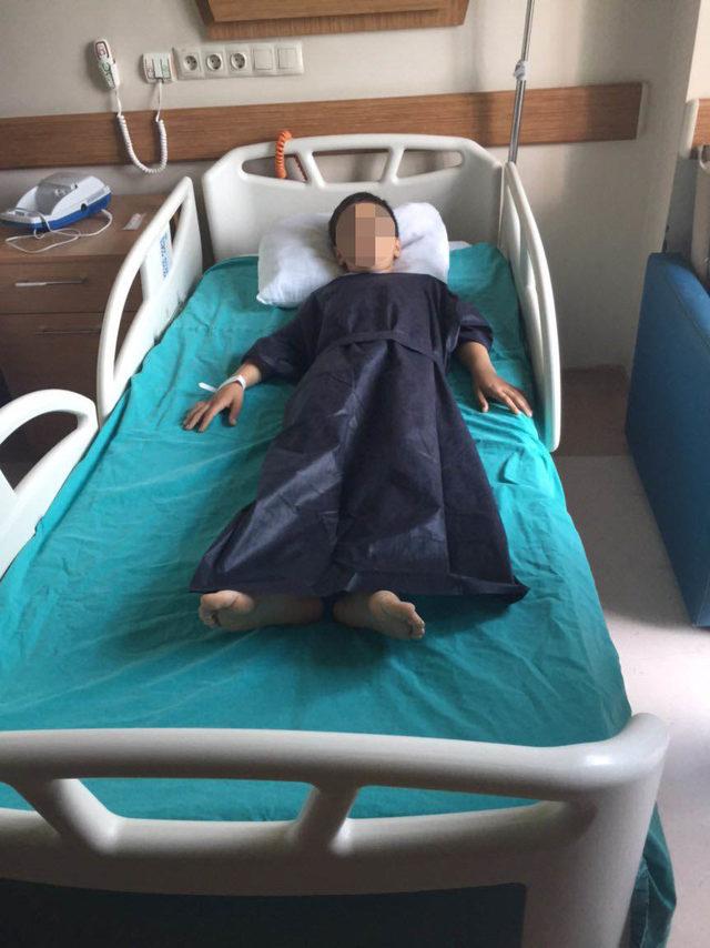 İlkokulda öğrenciyi ameliyatlık eden tekme