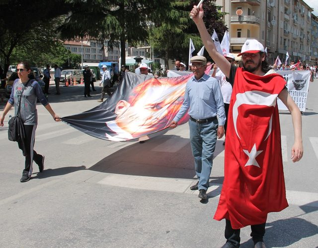 Amasya'da 1 Mayıs kutlaması