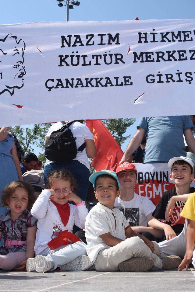 Çanakkale'de 1 Mayıs coşkuyla kutlandı