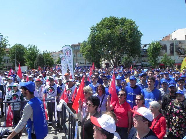 Lüleburgaz'da 1 Mayıs coşku içinde kutlandı