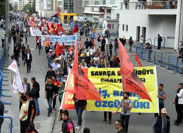 1 Mayıs, Kayseri'de coşkuyla kutlandı
