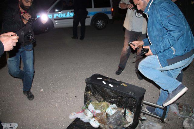 Fünye ile patlatılan şüpheli bavuldan çöp çıktı