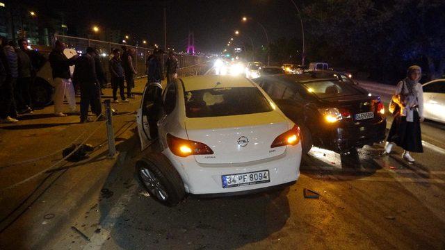 3 otomobil çarpıştı: 1 yaralı
