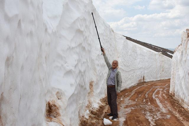 Mayıs ayında kar tüneli