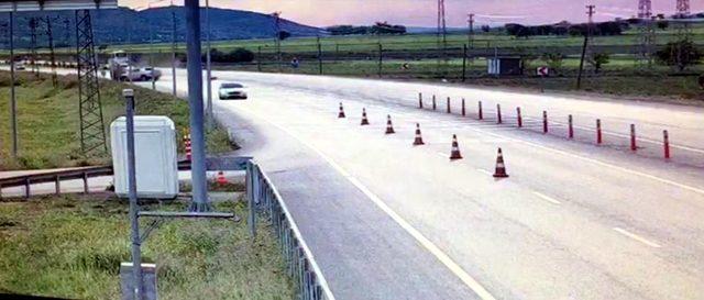 Elazığ'da, trafik kazası güvenlik kamerasına yansıdı