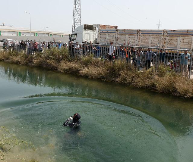 Kanalda erkek cesedi bulundu; meraklılar bölgeye koştu