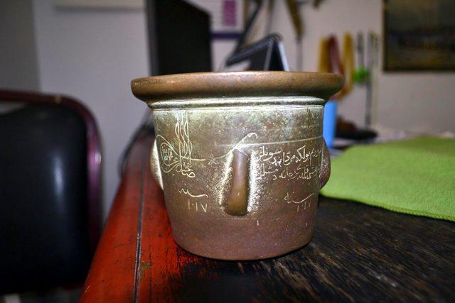 3'üncü Mehmet'in ilaç havanı Bafra'daki antikacıda